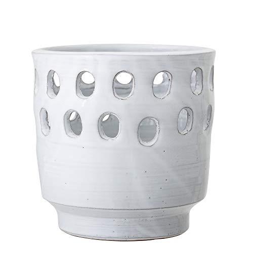 Bloomingville Windlicht, weiß, Terrakotta