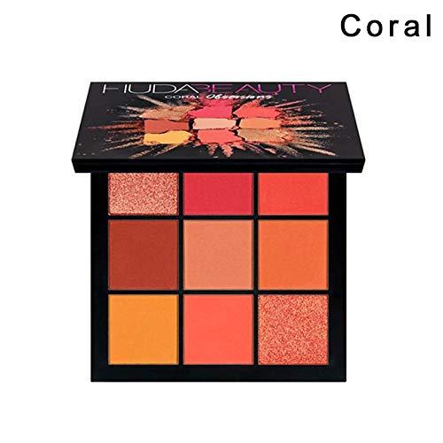 RoSoy 9 Colors Shining Matte Eyeshadow Paleta de Sombra de Ojos ahumada Impermeable