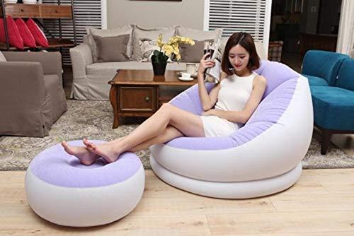 Clkdasjd Aufblasbare Luft aus PVC mit Fußhocker violett