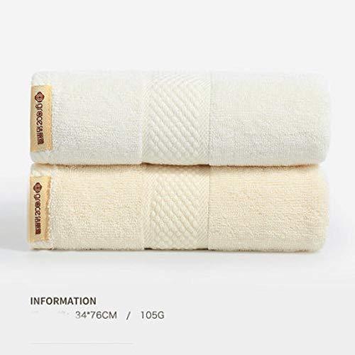 HXOUDAN 34 x 76 cm handdoek van katoen, sneldrogend, gezicht, handdoek, badhanddoek, absorberend, thuis, reizen, badkamer, hotel, gastenhanddoek, zacht, 2 stuks