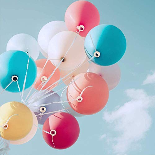 DMAIPUK 100 Ballonverschlüsse mit Band für Ballons mit Helium oder Luftbefüllung   Luftballon Schnellverschluss für Luftballons Verschluss für Dein Geburtstag oder Hochzeit