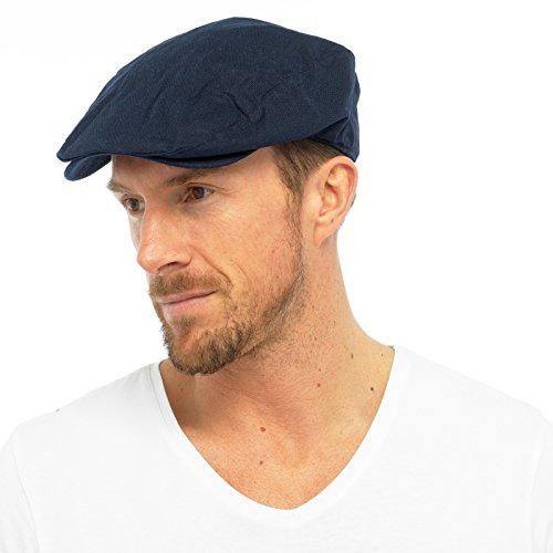 Tom Franks pour Hommes Coton DoubléÉté Pic Plat Chapeau - Bleu Marine, Large/X-Large
