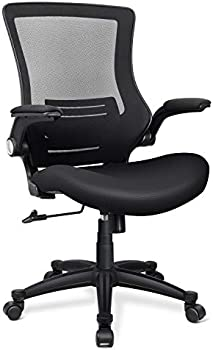 Funria Mid Back Mesh Office Chair with Flip-Up Arms Lumbar Support