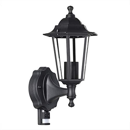 Lampadaire extérieur Krysante avec capteur de mouvement alu moulé réverbère lampe jardin lumière extérieure candélabre forme lanterne chemin