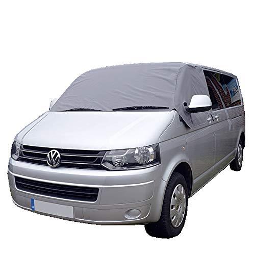 Funda, cortina, pantalla para parabrisas Transporter Van Deluxe VW T5T6, en color gris