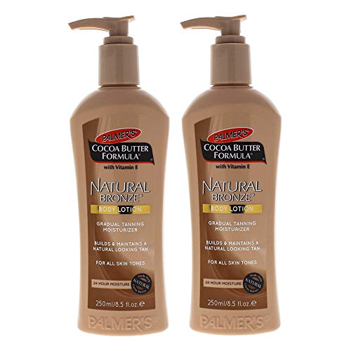 Palmers Cocoa Butter Natural Bronze Body Lotion - Pack of 2 For Unisex 8.5 oz Body Lotion