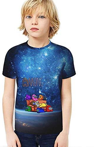 XCNGG Niños Tops Camisetas Among Us Youth T Shirt Kid tee Top for Boys & Grils Short Sleeve