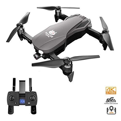 Opvouwbare GPS Drone Met Camera, Quadcopter Met Borstelloze Motor, 5G Transmission Wifi, Ondersteuning SD-Kaart, 23 Minuten Vliegtijd, Inclusief 2 Batterijen