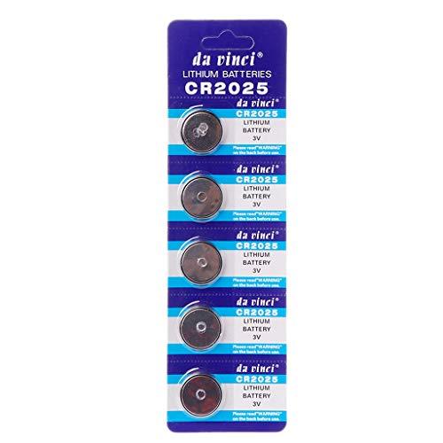 Weishai Lithium-Batterie CR2025 3 V Knopfzelle DL2025 BR2025 KCR2025 CR 2025 Autoschlüssel Uhr Computer Elektronische Spielzeug-Fernbedienung Taschenrechner Gewichtswaage