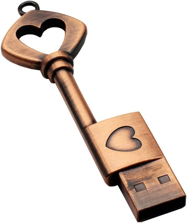 TWDYC Pen Drive Metal Pure Copper USB Challenge the lowest supreme price of Japan ☆ Gift Key Heart Flash