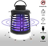 Camping Lantern Bug Zapper 2 In 1,Waterproof USB Rechargeable Insects Killer Zapper & Camping Light, Portable Electric Mosquito Killer Lamp Insect Trap Light for Camping Hiking Indoor Outdoor Use