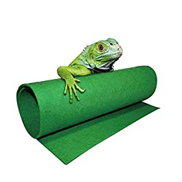 Moisturizing Reptile Carpet Green Fiber Mat for Bearded Dragons Tortoise