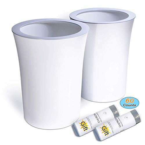 Trash Can White Small Waste Basket 2 6 G Buy Online In Kuwait At Desertcart