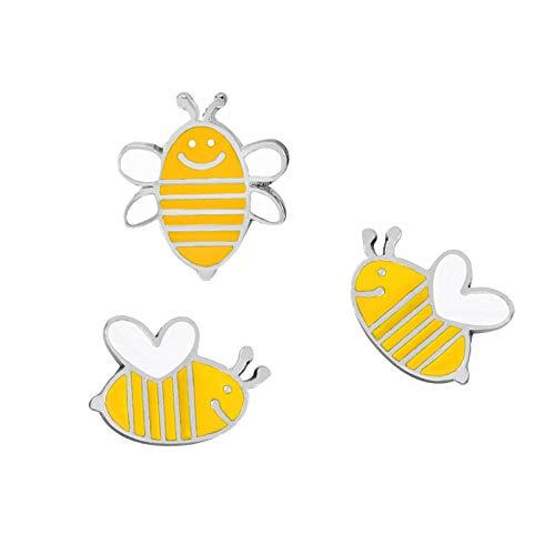 Relovsk broche met dierenmotieven van email, set met haas, boze vogel, bijen, snelvoersymbool, voor kinderen, dames, sieraden, 3 stuks