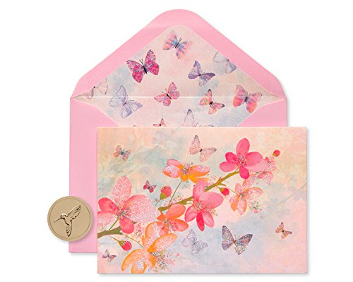 Papyrus Blank Cards with Envelopes, Blossoms (12-Count)