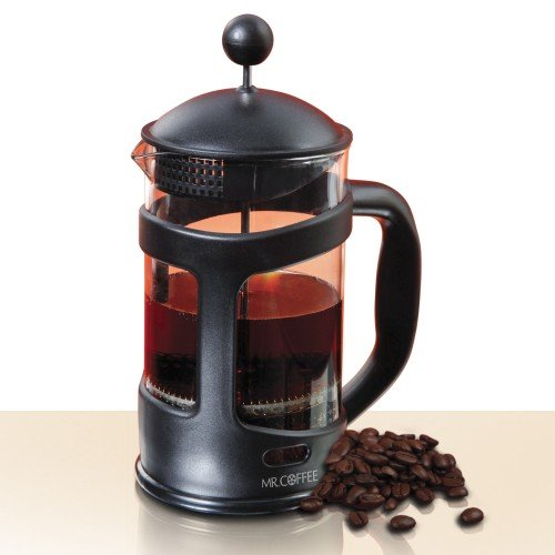 Mr. Coffee 28 Oz French Press extracts natural oils in coffee bean dishwasher safe sleek and modern design (92303.02)