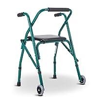 Plegable Andador Ancianos, Empujable Sillón for Adultos Personas Mayores Anda...