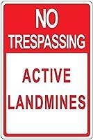 不法侵入地雷アルミニウム金属看板