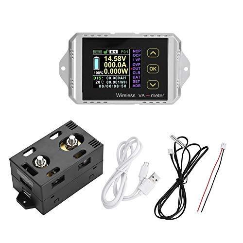Best Deals! DC Voltage Ammeter Power Meter Wireless DC Voltage Ammeter Power Meter Watt Meter Coulom...