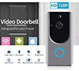 Smart Wireless WiFi Video Doorbell HD Security Camera with PIR Motion Detection Night Vision Two-Way Talk and...