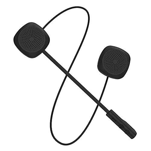 Auriculares para casco con Bluetooth para motocicleta, control de llamadas de música, micrófono manos libres, altavoz estéreo doble, auriculares de conversión bilingüe y manos libres