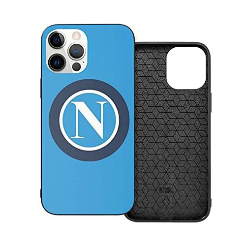Compatibile con iPhone 12/11 PRO Max 12 Mini SE X/XS Max XR 8 7 6 6s Plus Custodie S S C Napoli T Shirt Nero Custodie per Telefoni Cover