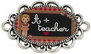 1 magnete A + insegnante di ardesia piastrelle di cuore di ardesia gingham rosso nero bianco regali personalizzati per i b...