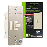 Enbrighten Almond Z-Wave Plus Smart Light Switch with QuickFit and SimpleWire, 3-Way Ready, Compatible with Alexa, Google Assistant, ZWave Hub Required, Repeater/Range Extender, Toggle, 14293