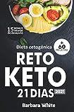 Dieta cetogénica 2021: Reto KETO 21 días, para una rápida pérdida de peso y quema de grasa en solo 3 semanas + 60 Recetas