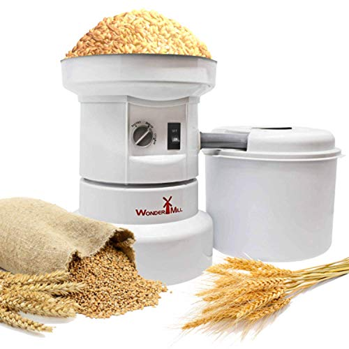 Powerful Electric Grain Mill Wheat Grinder for Home and Professional Use - High Speed Grain Grinder...