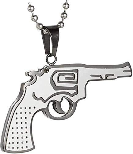 Yiffshunl Collar Elegante Collar con Colgante Ak47 Collar con Colgante Simple y Elegante de Acero Inoxidable para Hombre