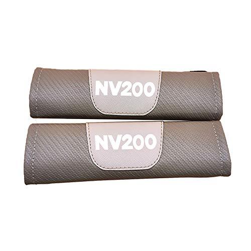 ZXCV 2 Fundas Coche Almohadillas Cinturón Fibra Carbono, para Nissan Nv200 Hombro Correa Protector Seguridad con Logo Auto Interior Accesorios