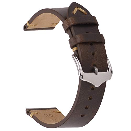 Leather Watch Strap,EACHE Oil Wax Calfskin Watch Band,Men Women Watch...