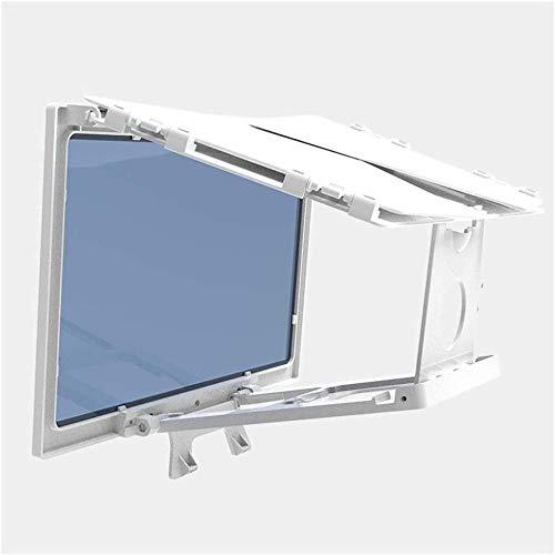 Pantalla de proyector portátil Pantalla de 30 cm Lupa Teléfono móvil Lupa 3D Pantalla de proyector Cobertura Completa Soporte móvil Plegable Adecuado-Blanco