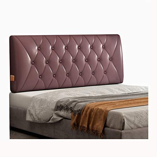 WENZHE Cabecero Cama Cojines Tapizado Cojín Lectura Almohadas, PU Suave Espalda Lleno Botones Diseño, Usado para Hotel Dormitorio, Tamaño Personalizado (Color : Purple, Size : 160x60x10cm)