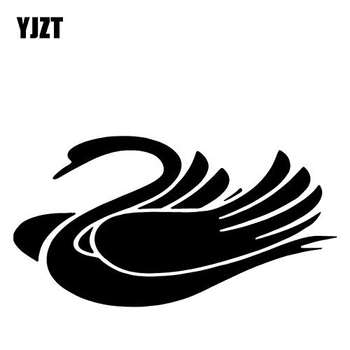 JYIP 16 5CM * 8 7CM Swan Creative Decoration Car Door Accessories Vinyl Sticker Black/White C4-2505-white