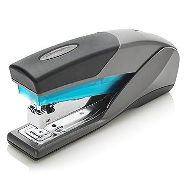 Swingline Stapler, Optima 25, Full Size Desktop Stapler, 25 Sheet Capacity, Reduced Effort, Blue/Gray (66404) – SWI66404