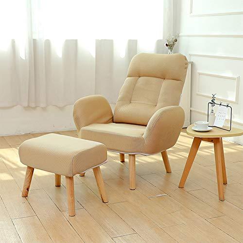 JDSFKX Einzelsofa Relaxsessel Faule Couch/Fernsehsessel/Liegestuhl Rückenlehne Verstellbar für Schlafzimmer, Wohnzimmer, Büro Balkon Meditationsstuhl Lesesessel