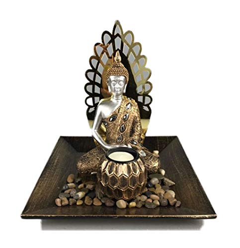 Decohouse - Centro Buda Decorativo - Centro Jardin Velas Zen - Regalo Original Barato
