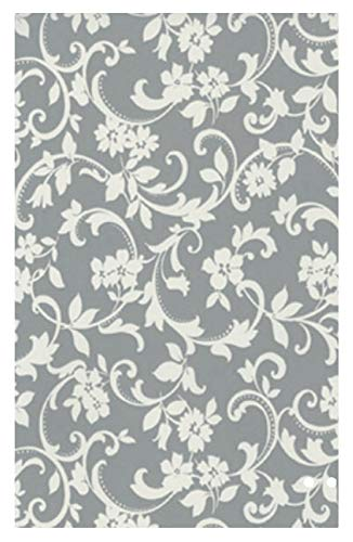 i.stHOME Klebefolie Möbelfolie Cirrus Ranken grau weiß - Dekorfolie 45x200 cm - Selbstklebende Folie, Selbstklebefolie für Möbel, Bastelfolie