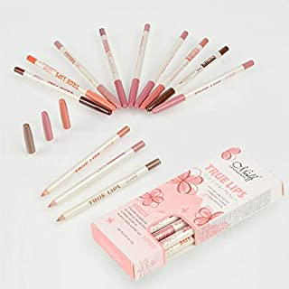 True Lips 12 Lip Liner Pencils Makeup Cosmetics