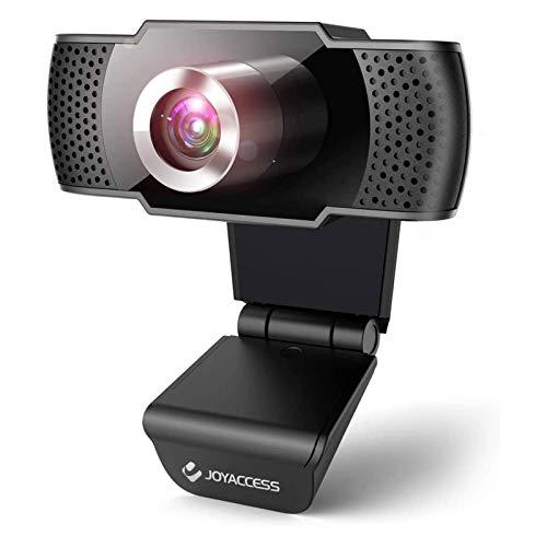Camara web 1080P HD con micrófono, cámara web de computadora USB para computadora portátil, reducción de ruido, visión de ángulo amplio de 105 ° para streaming, confrencia de zoom, juegos, YouTube Skype FaceTime. (Negro)