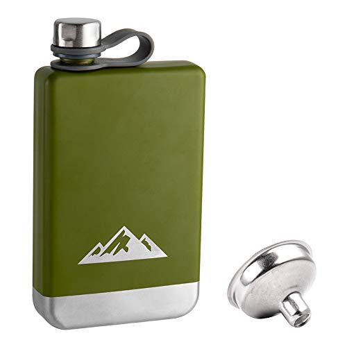 KWANITHINK Hip Flask for Men, Stainless Steel 8oz Hip Flasks...