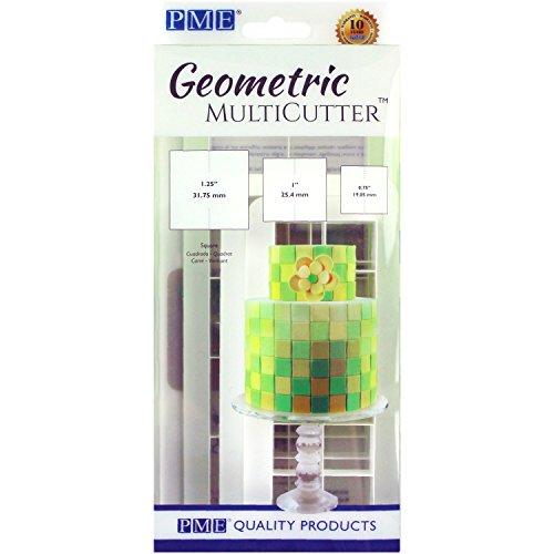 PME MultiCutter für Kuchendesign, geometrisch, plastik, weiß, Set of 3