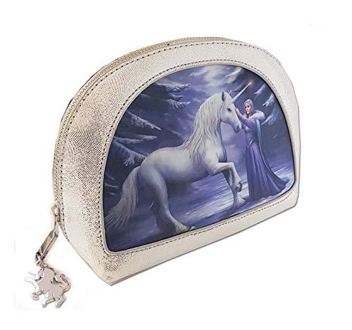 Pure Magic - Bolsa de maquillaje gótica para niña fantasía y unicornio...