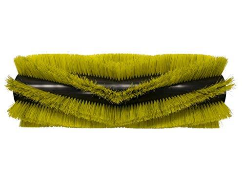 partmax® Bürstenwalze für Dulevo 100 Elite, Poly 0,8 gewellt gelb gemischt mit Welldraht 0,35 mm, Walze, Walzenbürste, Kehrwalze