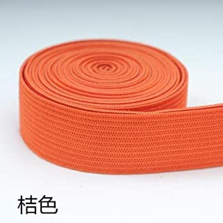 TMYQM 20mm Colorful High-Elastic Elastic Bands Rope Rubber Band 2cm Spandex Ribbon Sewing Lace Trim Waist Band Garment Accessory 1M (Color : Orange)