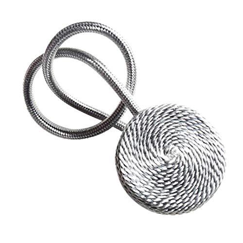 HJCWL 1 stuks magnetisch flanel Rond gordijn Tiebacks Tiebacks Holdbacks Ringgesp Clips Accessoire Gordijnroeden Decoratie Accessoires, Zilver
