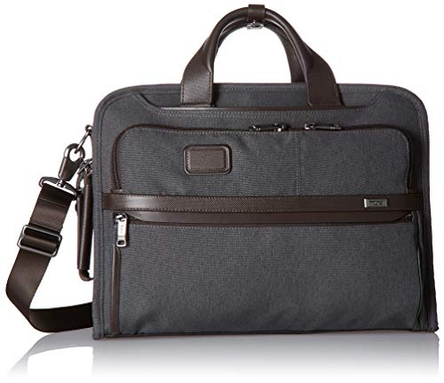 TUMI - Alpha 3 Slim Three Way Laptop Briefcase - 15 Inch Computer Bag for Men and Women - Anthracite