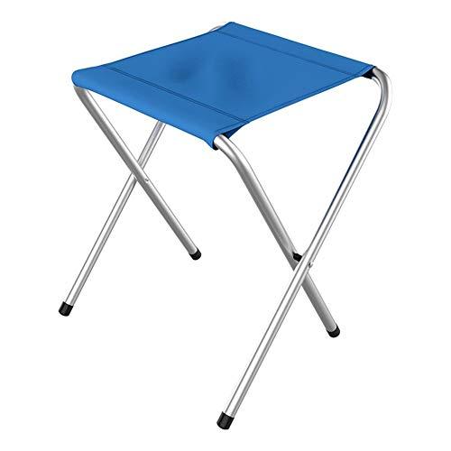 Tabouret Camping en Plein Air Carte Pique-Nique Party Barbecue Plage Pliant Tabouret Tabouret De Pêche Chaise De Loisirs (Color : Blue, Size : B)